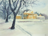 Winterlandschaft  aquarell  2006  30x40cm